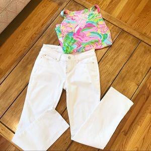 Ann Taylor Modern Fit White Jeans Size 4P